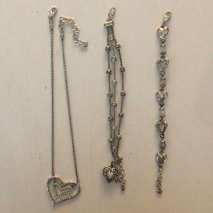 3 pack Brighton Heart jewelry